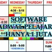 Buat Jadwal Menggunakan Program Pembuatan Jadwal