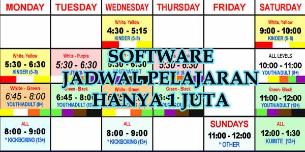 software jadwal pelajaran