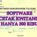 Cetak Kwitansi Menggunakan Software Kwitansi Pembayaran